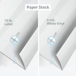 Cut-to-size Label Paper Stock