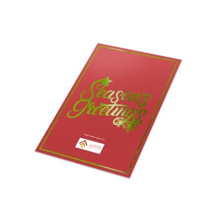 Metallic Flat Greeting Cards