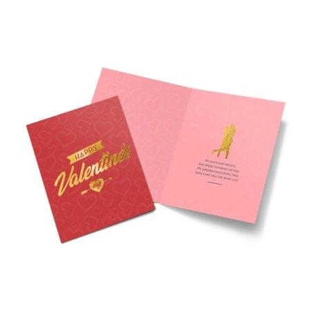 Metallic Folded Greeting Cards