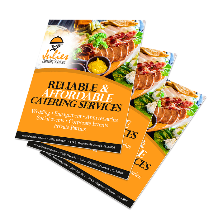 poster signs for food services
